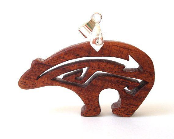 Southwestern Heartline Bear Totem Jewelry by OohLookItsARabbit, $22.00