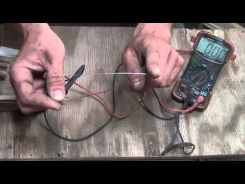 How to make a thermal electric generator from nitinol wire