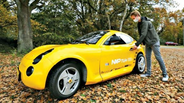 Electric Car Made From Waste at Dutch University Students in the Netherlands built a fully functional electric car out of waste 🚗 #electriccar #electricvehicle #electriccarcharging