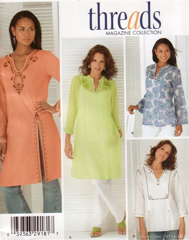 Kurta patterns on EBay | Sewing Patterns - Blouse | Pinterest ...