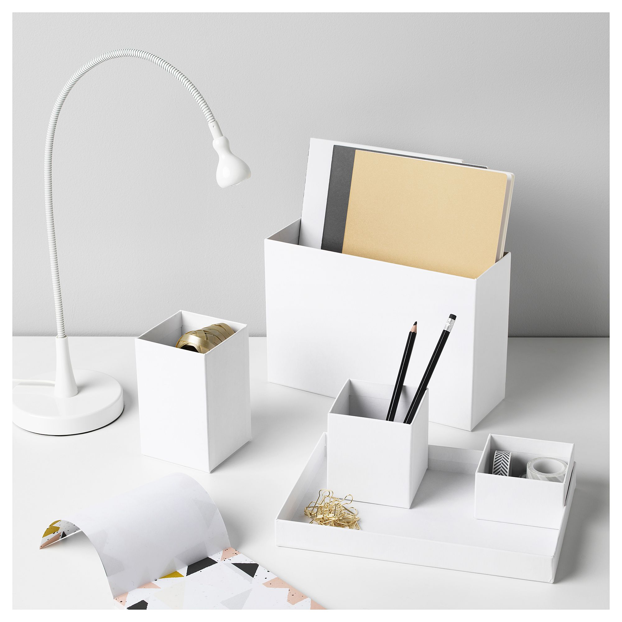 Tjena Desk Organizer White Ikea Desk Organization Ikea White Desk Organiser Desk Organization