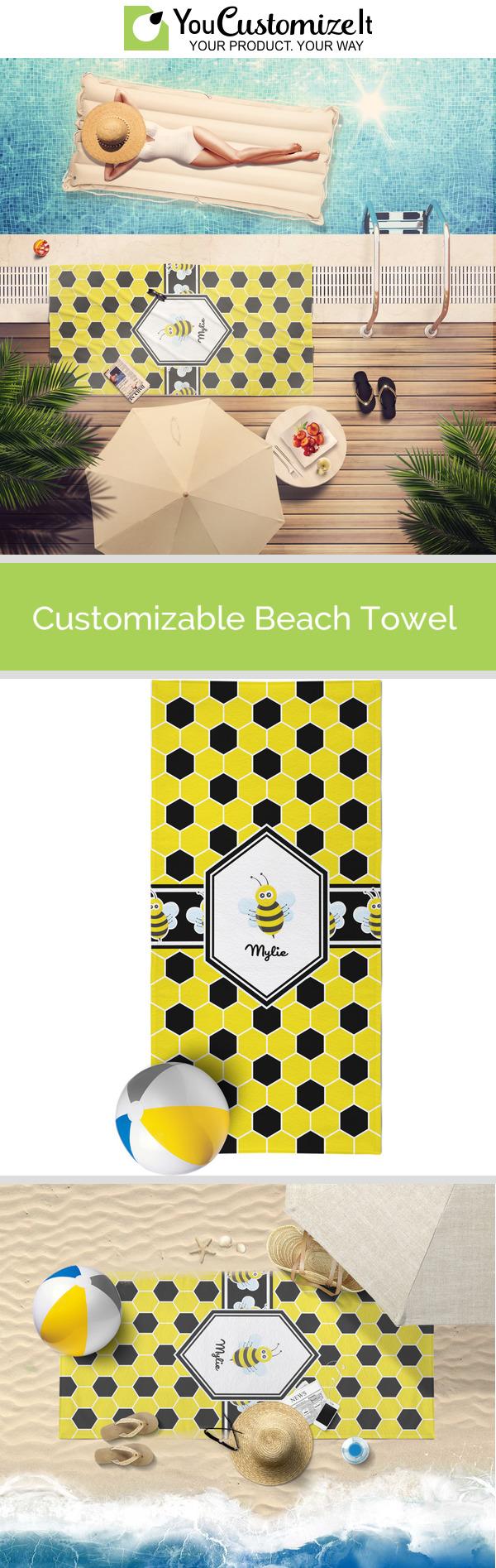 YouCustomizeIt Honeycomb Sheer Sarong Yellow Personalized