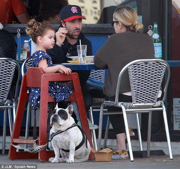Jason Schwartzman and wife Brady take daughter Marlowe out ...