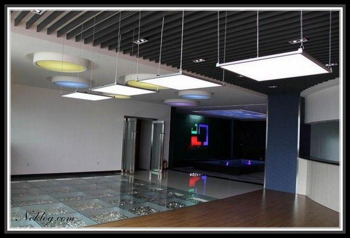 outstanding led light panel suspended ceiling design idea