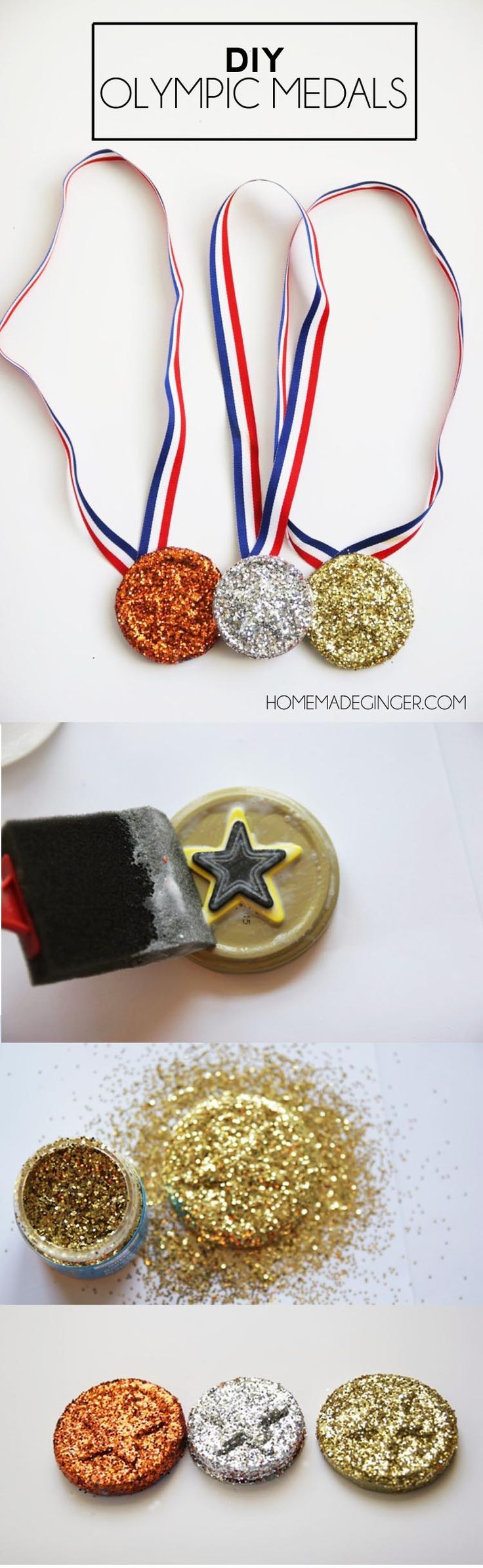 DIY Olympics Medals | Olympics Recipes, Crafts and more