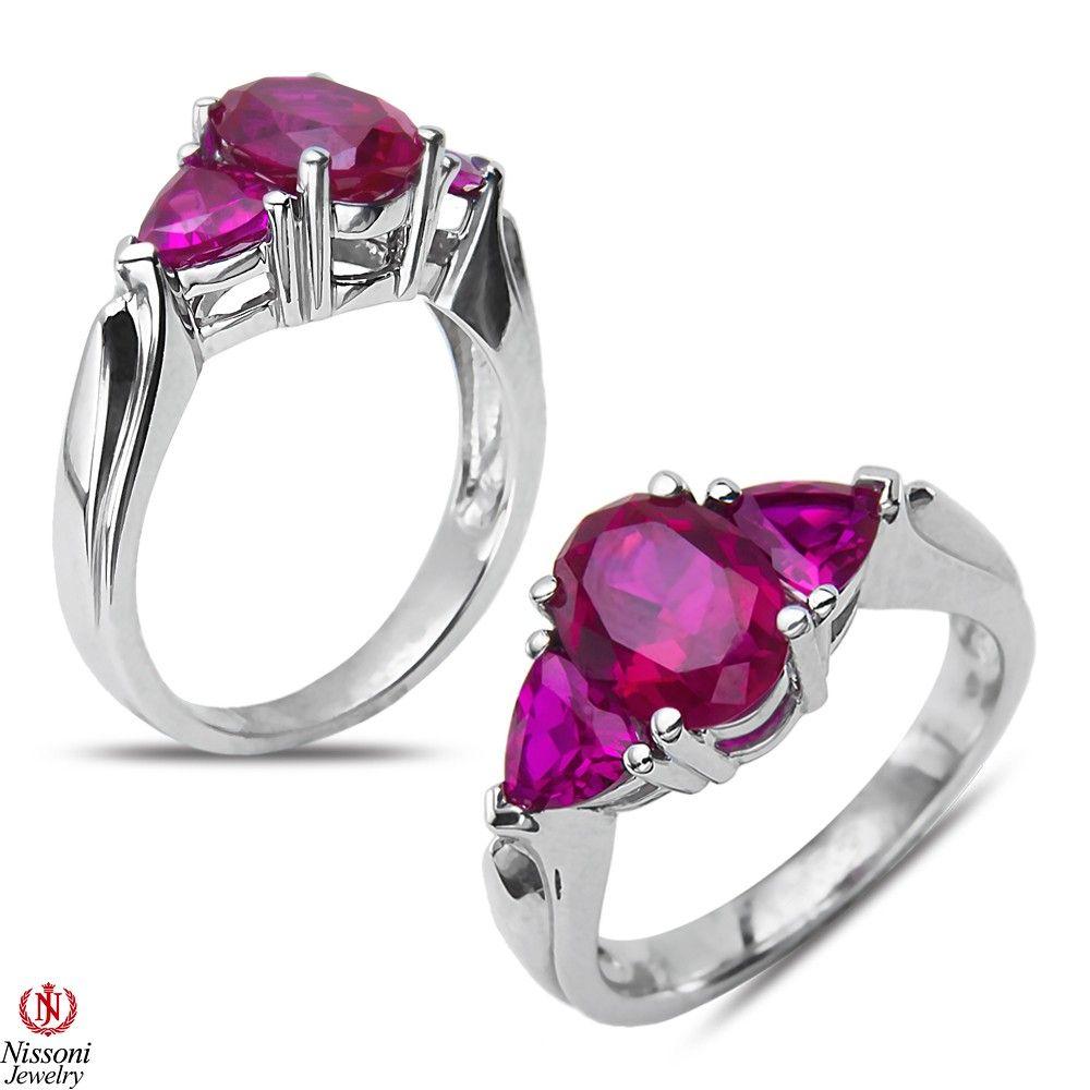 Etsy nissonijewelry presents created ruby fashion ring k white