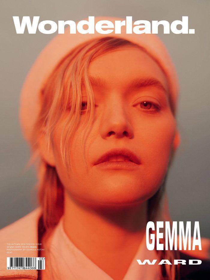 Gemma Ward pose for Wonderland Magazine Fall 2016 issue