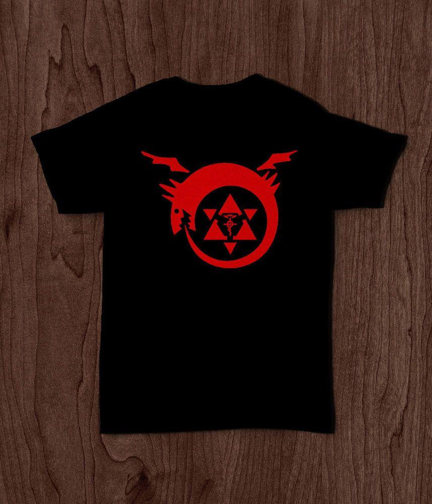 Anime Fullmetal Alchemist t-shirt logo Short sleeve men/'s top