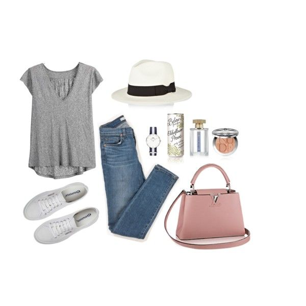 21°C by unejeunedemoiselle on Polyvore featuring moda, J Brand, Sensi Studio and Sephora Collection