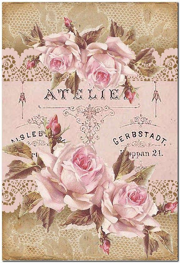 Carta Decoupage Shabby Chic.Pretty In Pink Carta Decoupage Vintage Vintage Paper Vintage