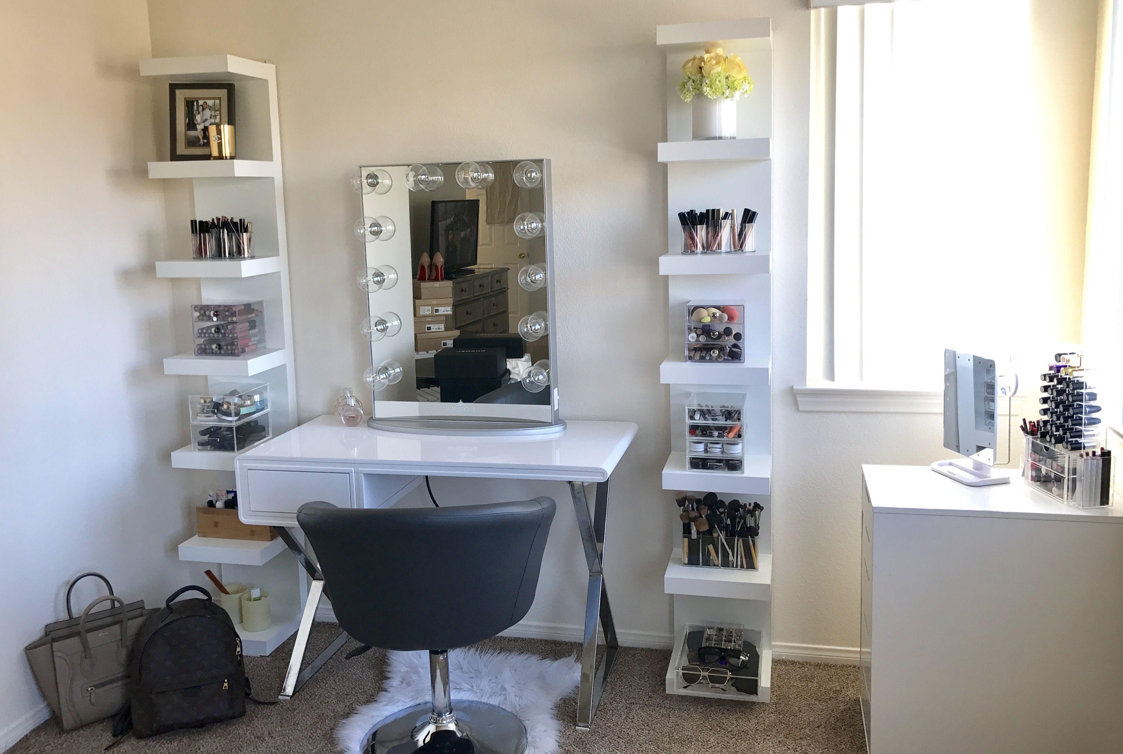 My Vanity Station Using Ikea Lack Shelf System And Impressions