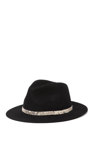 PHENIX | Felt Fedora With Snake Embossed Leather Headband #nordstromrack