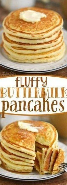 The Best Fluffy Buttermilk Pancakes You Ll Ever Try This Easy To Follow Recipe Y In 2020 Buttermilk Pancakes Fluffy Breakfast Brunch Recipes Pancake Recipe Buttermilk
