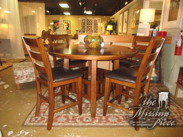 American Signature Dining Table In A Dark Finish With Slate Lazy Alluring American Signature Dining Room Sets Design Ideas