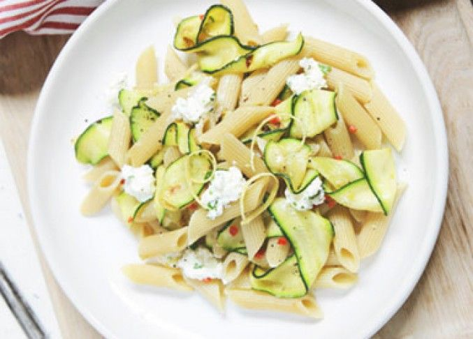 Eat this: Zucchini Chilli and Herbed Ricotta Penne recipe