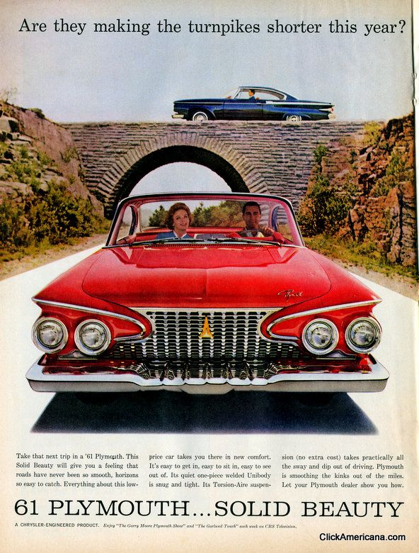Classic American car ads from 1961 Vintage cars, Classic
