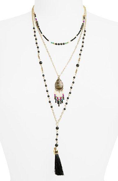 Panacea Seed Bead Tassel Pendant Necklace i5xXa