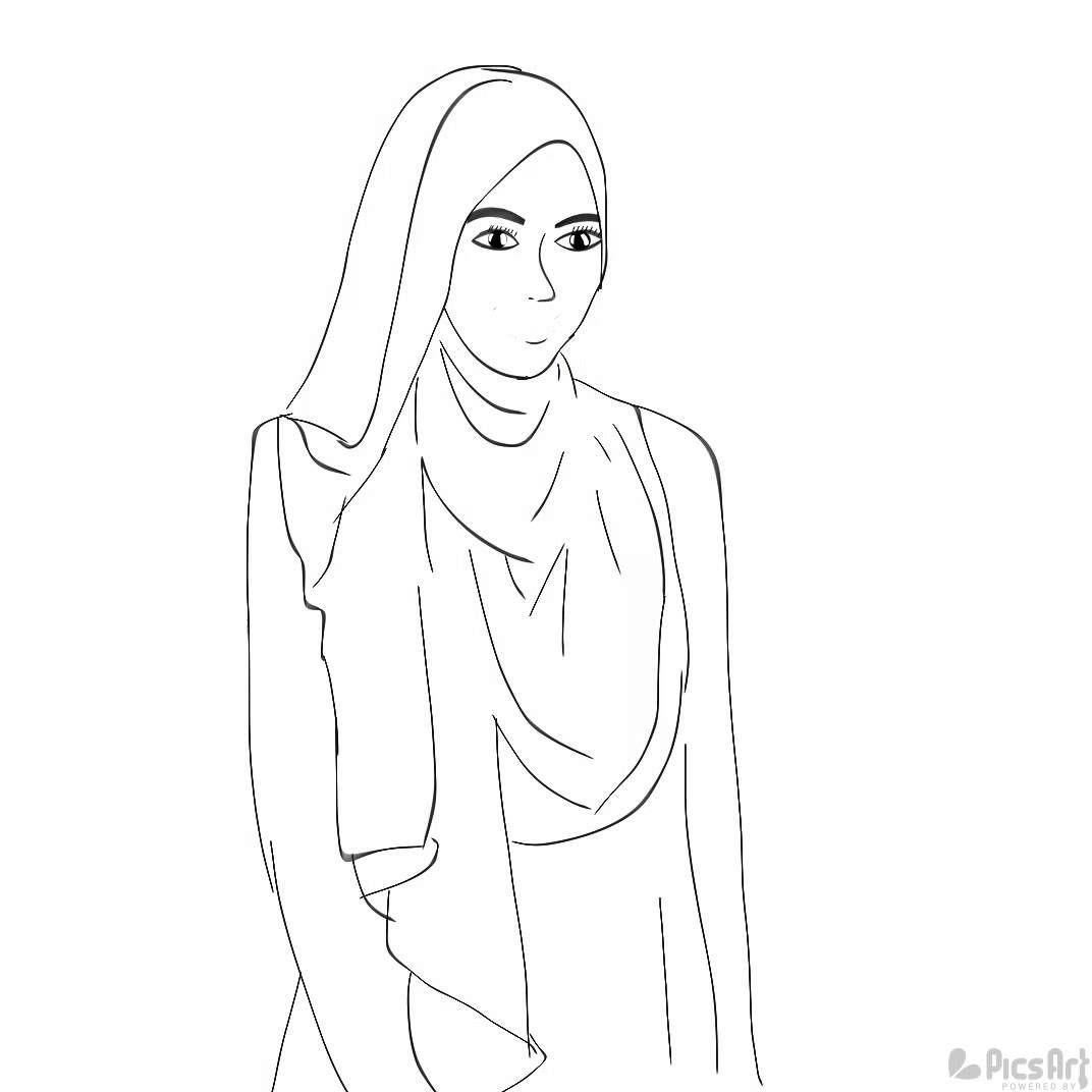 Top Cara Menggambar Sketsa Wajah Wanita Berhijab