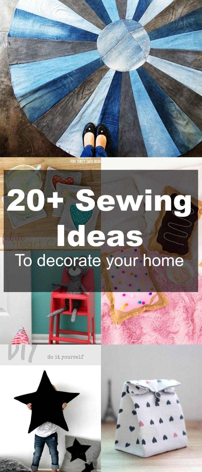 FREE SEWING PATTERNS: 20+ Home Decor Ideas to Sew: Learn how to make ...