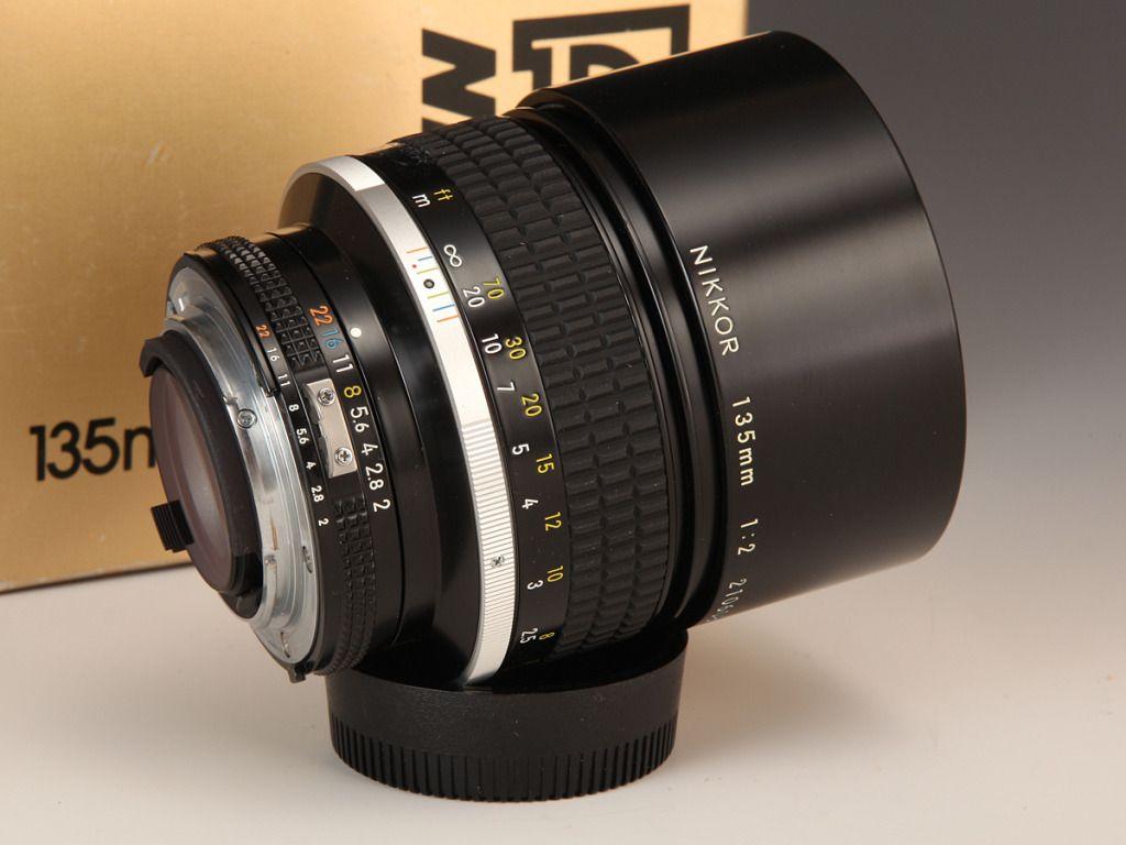 Nikkor 135mm F2 Ais Vintage Lenses Nikon Lenses Vintage Cameras