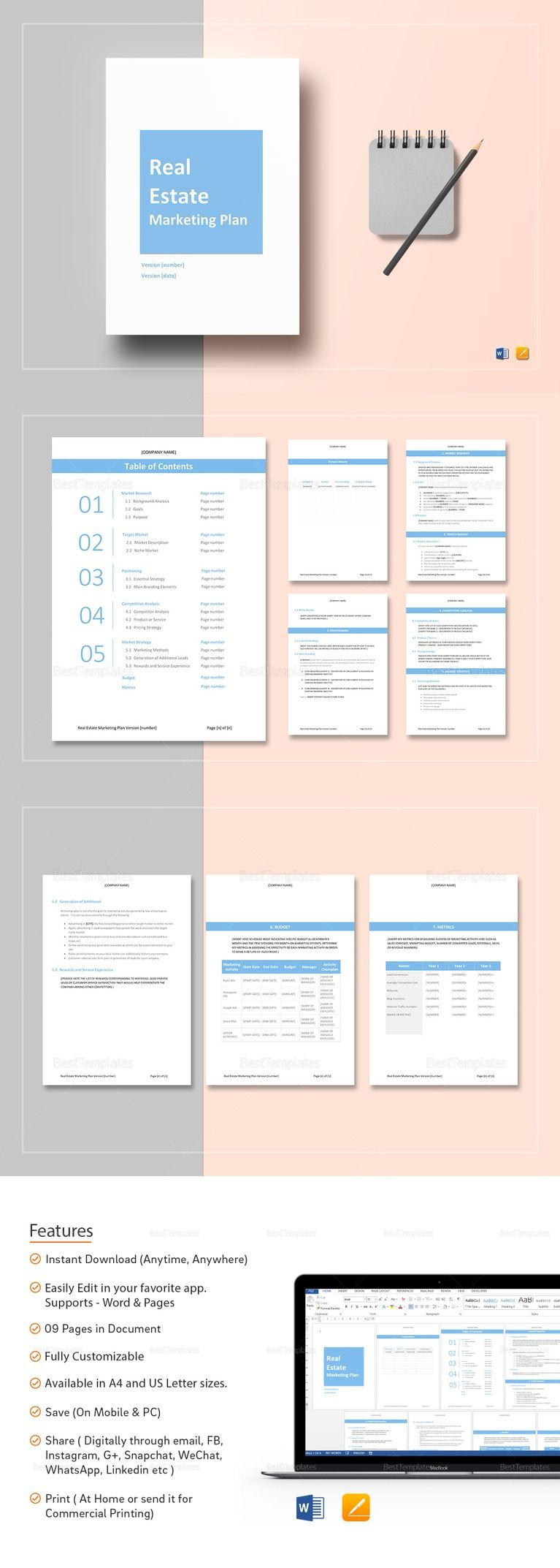 Real Estate Marketing Plan Template (With images