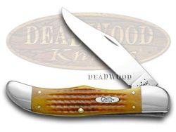 CASE XX Harvest Orange Jigged Bone Folding Hunter Pocket Knife - CA16999 | 16999 - 021205169996