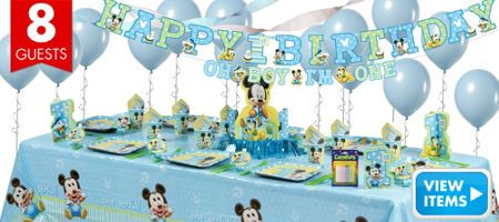 mickey mouse 1st birthday party supplies - party city | birthday