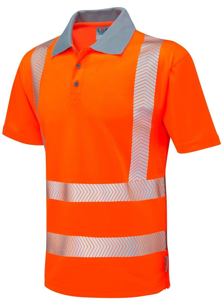 Class 2 Safety Ppe Chevron Cut Tape Short Sleeve Coolviz Polo Shirt