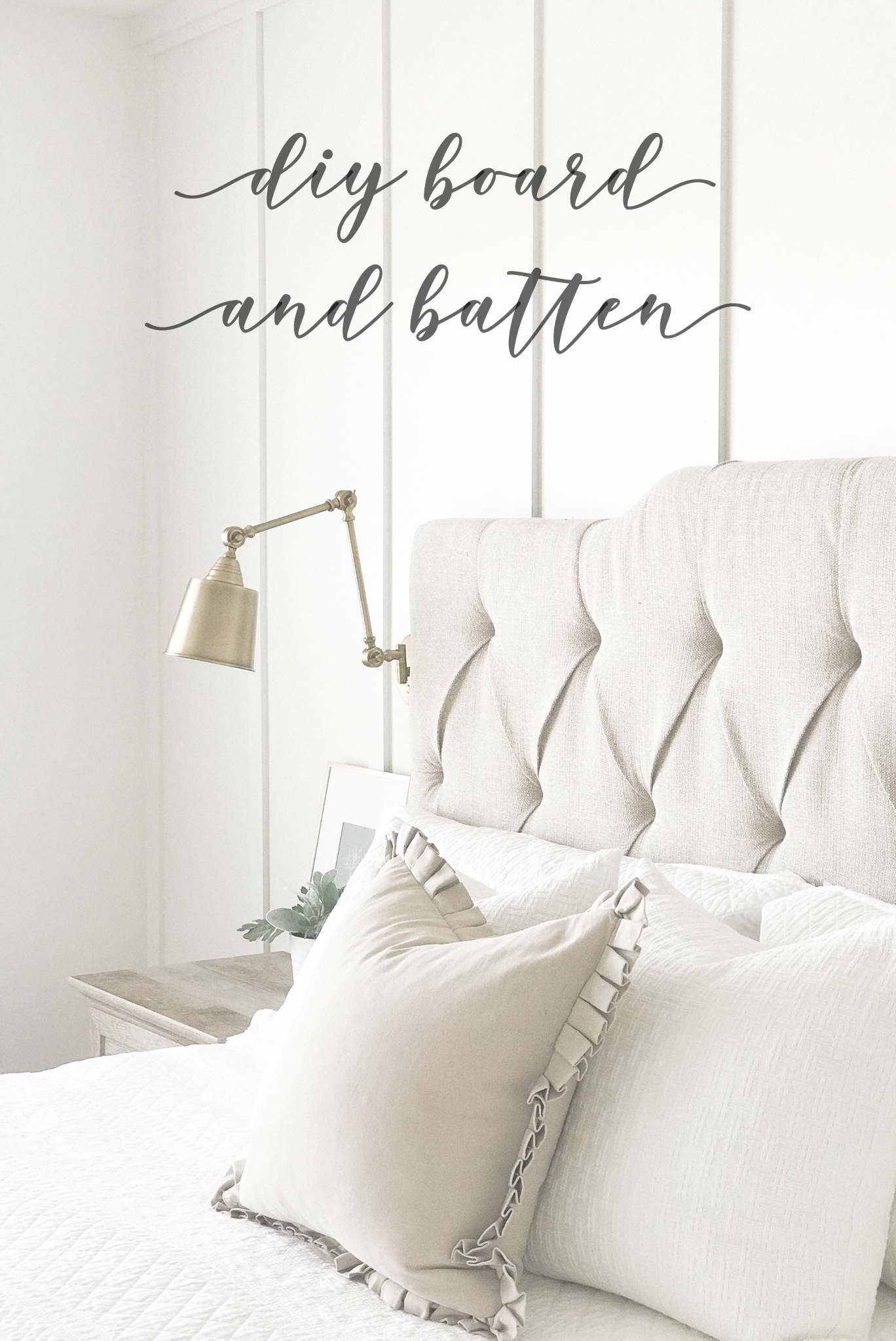 Board And Batten Accent Wall Affordable Bedroom Furniture Bedroom Furniture Headboards Farmhouse Bedroom Furniture