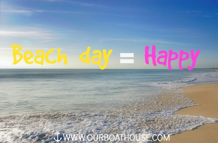 Beach Day Quotes Beach day = Happy | Happy Thoughts | Beach, Beach day, Happy Beach Day Quotes