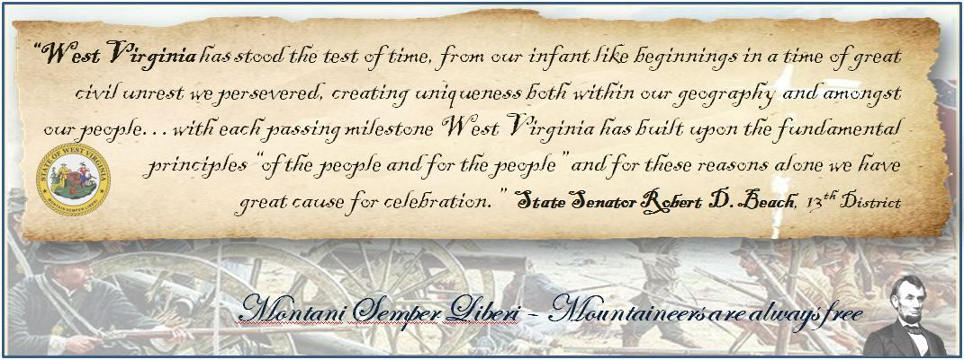 my husband's quote for our state's 149th birthday on June 20, 2012
