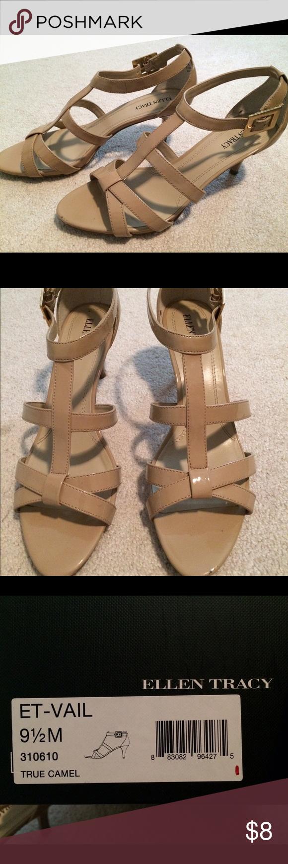 Ellen Tracy shoes Size 9.5 Ellen Tracy heels, camel color, 2.5 in heel. Ellen Tracy Shoes Heels