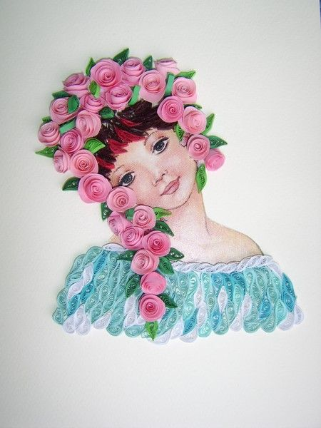Quilling art female characters in the wonderful paper art - Paper quilling ideas for kids ...