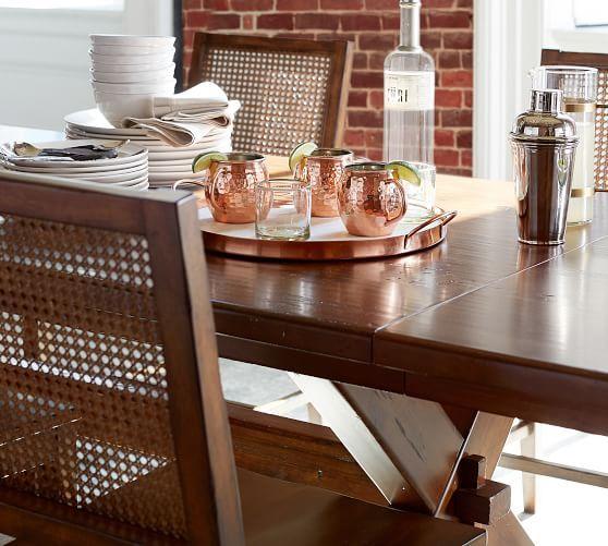 Toscana Extending Dining Table Seadrift Potterybarn In 2020 Extendable Dining Table Dining Table Extending Table