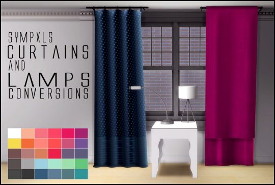 Simsworkshop Curtains And Lamps By Sympxls Sims 4