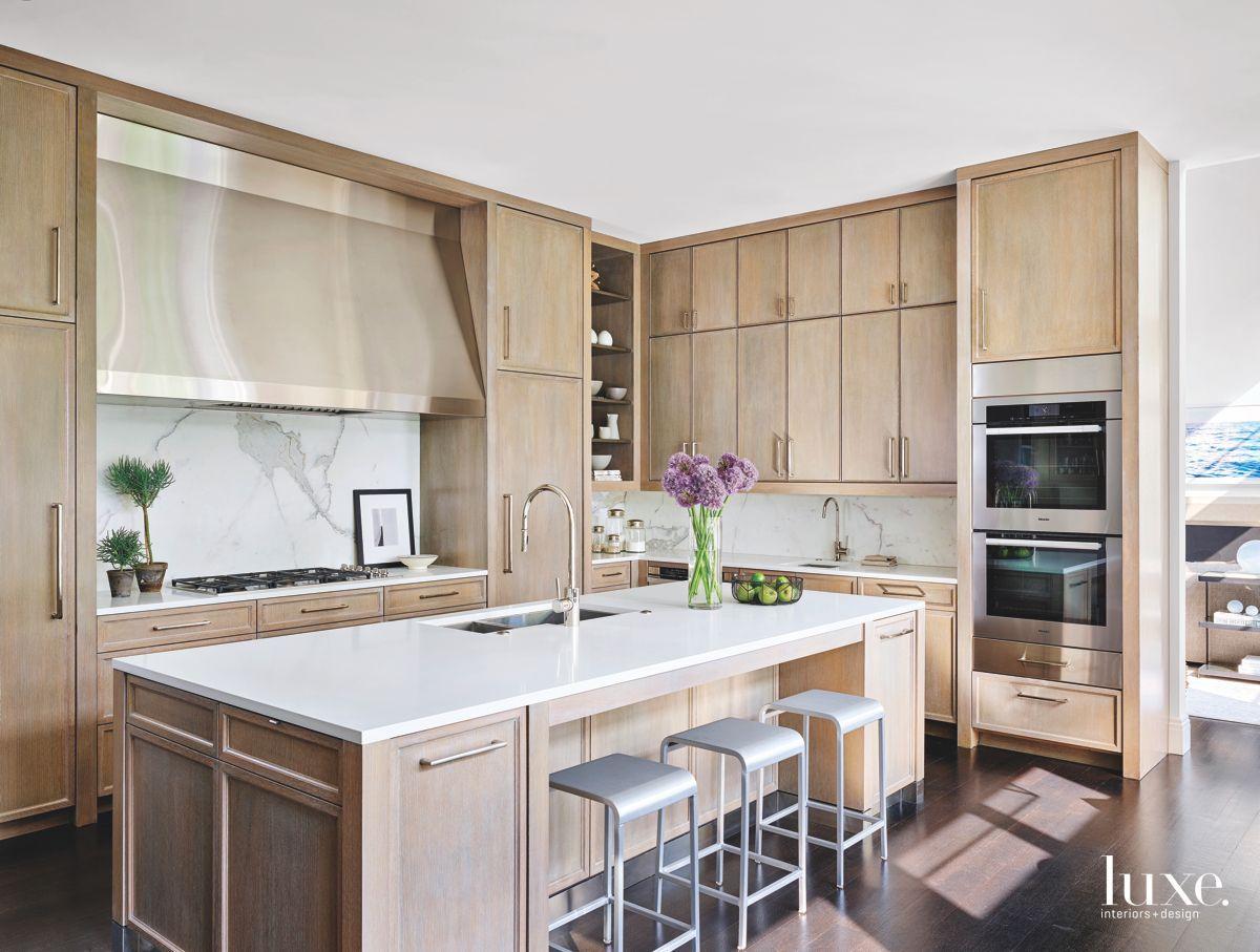 limed oak kitchen cabinets - rift sawn oak plank cabinets in a ...