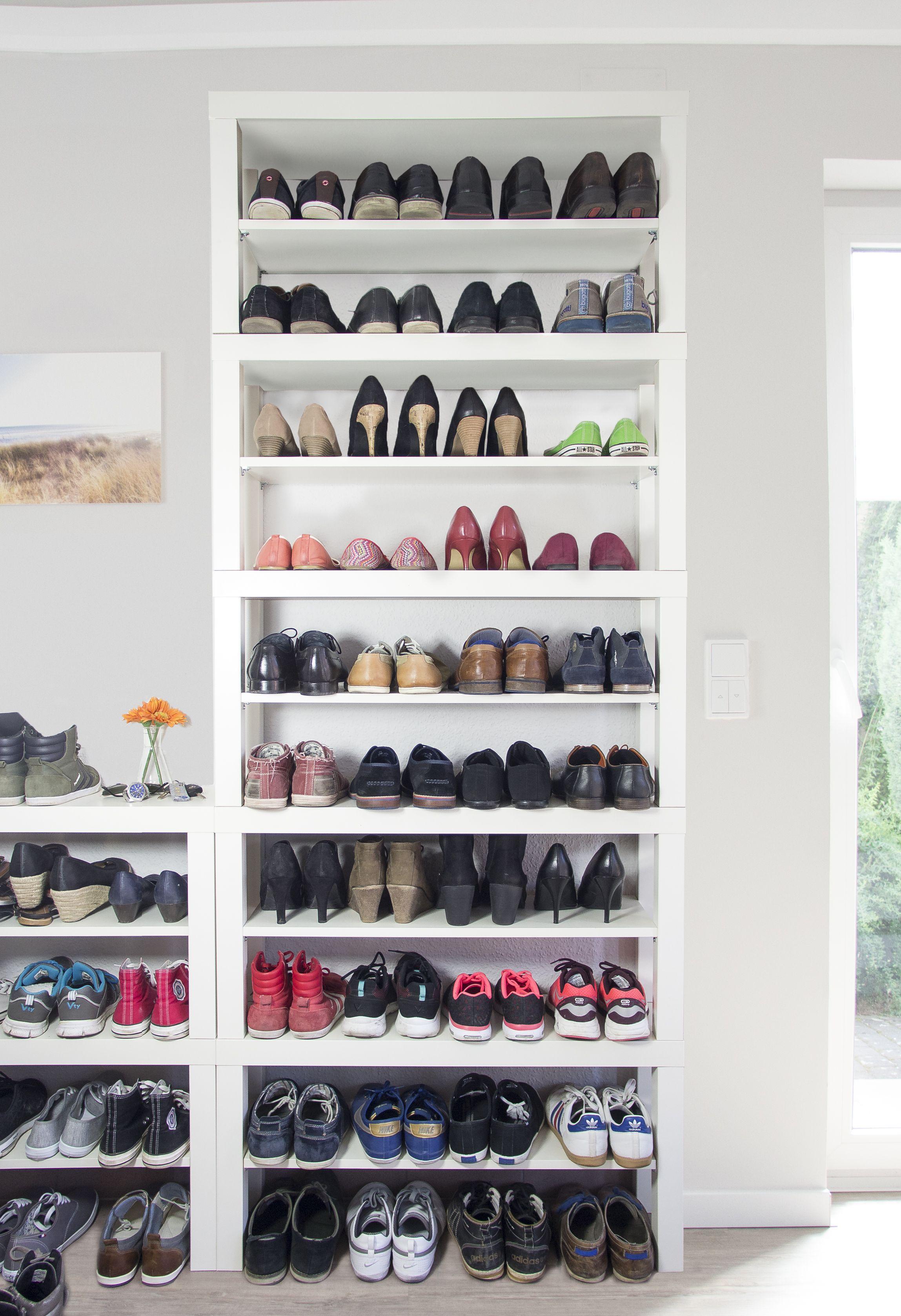 Ikea Lack Hack Einfache Und Gunstige Alternative Zum Schuhregal Schuhregal Alle Schuhe Auf Einen Blick