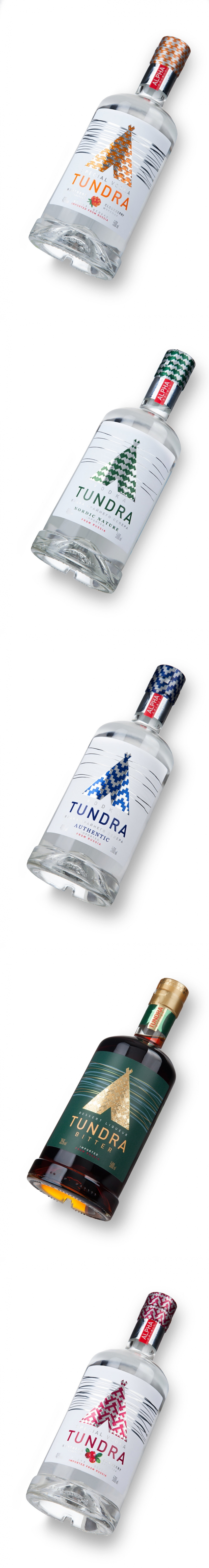 Tundra Vodkas and Bitters — The Dieline - Branding & Packaging Design