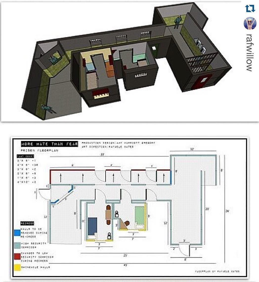 Repost Rafwillow With Repostapp Production Design Tinnnnnngggs For The Set Of Morehatethanfear Floorplan Setbuildi Floor Plans Design How To Plan
