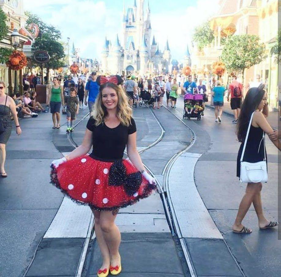 Minnie Mouse Tutu Sparkle Polka Dot Tutu Disney Hen Disneyland ...