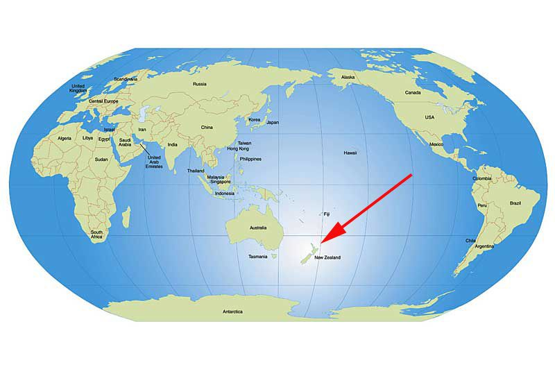 New Zealand Map On World.This Is New Zealand On The World Map Mason Richter Period 7 New
