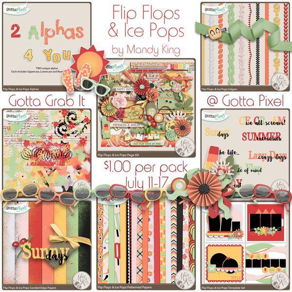 3bff0438a1e9 Flip Flops   Ice Pops - Mandy s July GGI Collection! Digital Scrapbook by  Designs by Mandy King  digiscrap  digitalscrapbooking  memorykeeping   mandyking