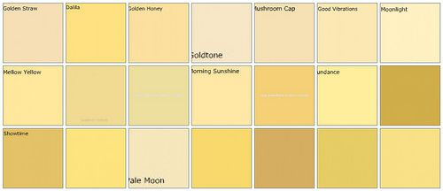 Yellow paint: Designers' favorite colors