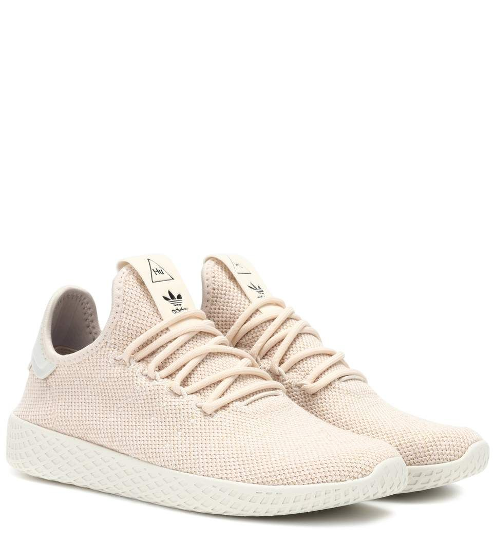 Adidas Originals By Pharrell Williams Pharrell Williams Tennis Hu Sneakers In Neutrals Modesens