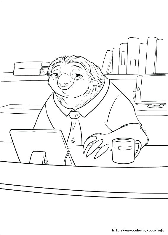 Sloth Coloring Page Free Coloring Page Template Printing Printable Sloth Coloring Pages Zootopia Coloring Pages Disney Coloring Pages Coloring Pages For Kids