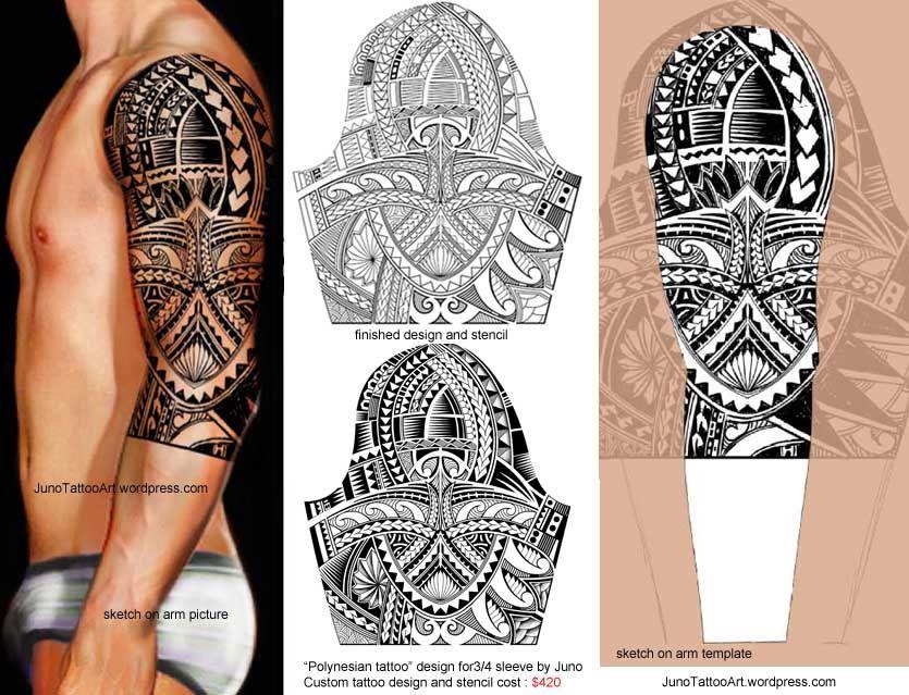 "Custom Maori Tattoo Designs: ""Polynesian Tattoo For Sleeve"" By Juno"