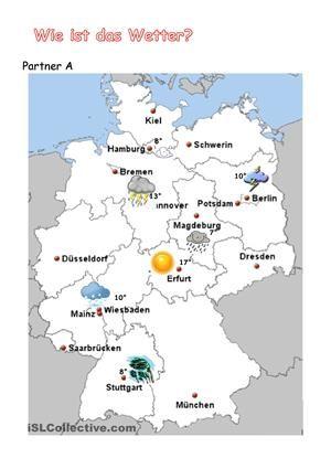 wetter in deutschland wechselspiel deutsch unterricht deutsch arbeitsbl tter und deutsche. Black Bedroom Furniture Sets. Home Design Ideas