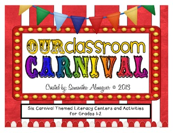 Carnival Themed Activity Pack - Six Literacy Center Activi