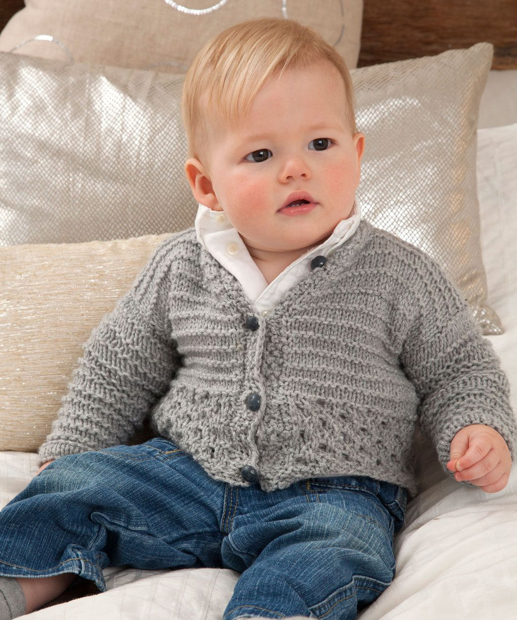 Free Red Heart Baby Knitting Pattern Cardigan Knitting For