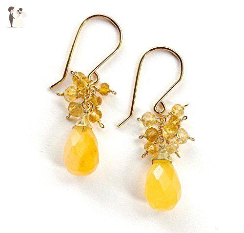 Natural Citrine Earrings Gold Gold Crystal Earrings Dangle Gold Gemstone Earrings Drop NEW